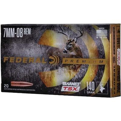 Federal Ammo 7mm-08 Remington 140 Grain Barnes Triple ...
