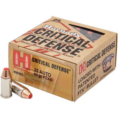 Hornady Ammo Critical Defense FTX 32 ACP 60 Grain