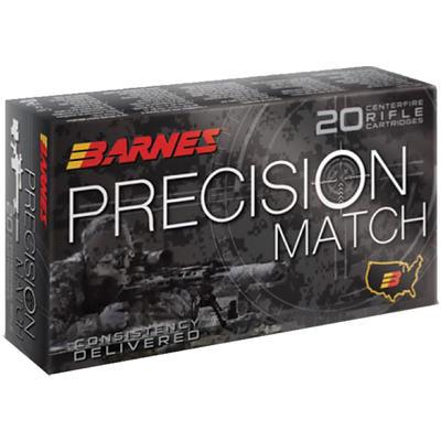 Barnes Ammo Precision Match 338 Lapua Magnum 300 Grain OTM ...