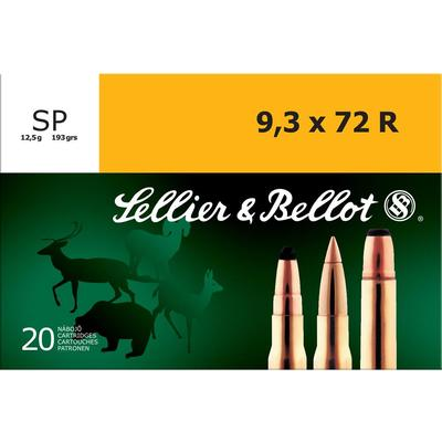 Sellier & Bellot Ammo 9.3x72mm Rimmed SP 193 G