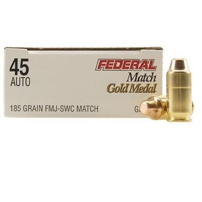 Federal Ammo 45 ACP FMJ Semi Wadcutter 185 Grain [GM45B
