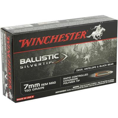 Winchester Ammo Supreme 7mm Magnum Silvertip 150 Grain