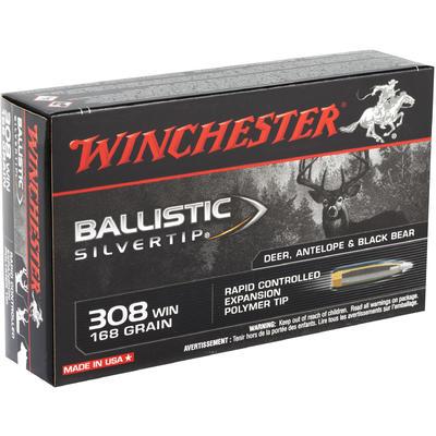 Winchester Ammo Supreme 308 Win (7 62 NATO) Ballistic ST 168