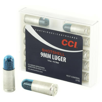 CCI Ammo Pest Control 9mm #12 Shot Shell 64 Grain