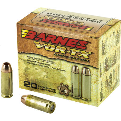 Barnes Ammo Vor-Tx Handgun Hunting 10mm 155 Grain XPB [31180] | Ammo