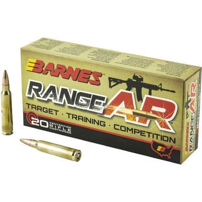 Barnes Ammo Range AR 5.56x45mm (5.56 NATO) 52 Grain OTFB ...