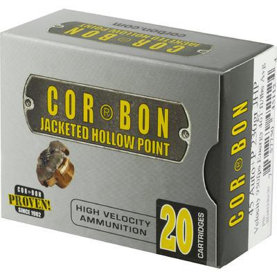 CorBon Ammo Self Defense 45 ACP+P JHP 230 Grain [SD45230