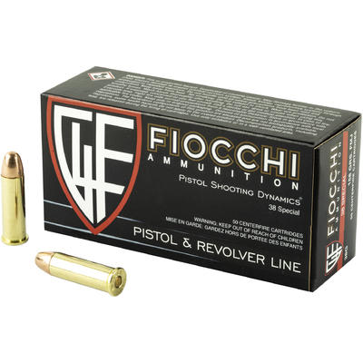Fiocchi Ammo Shooting Dynamics 38 Special 158 Grain FMJ [38G