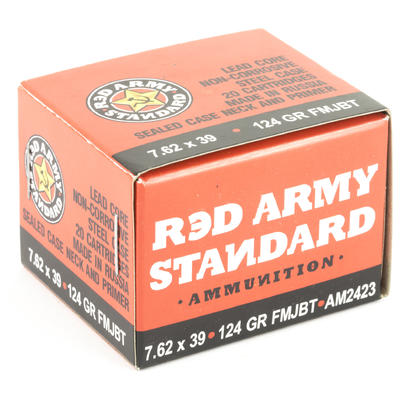 Red Army Ammo Standard 7.62x39mm 124 Grain FMJBT 2