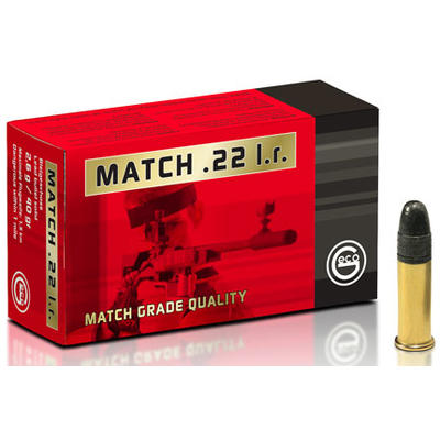 Geco Ammo Rimfire .22 Long Rifle (LR) 40 Grain LRN