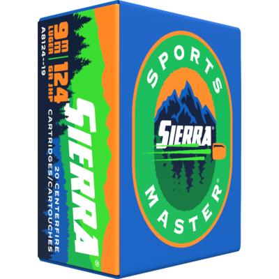 Sierra Ammo Outdoor Master 9mm 124 Grain JHP 20 Ro