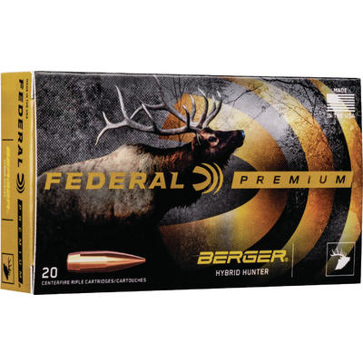 Federal Ammo Gold Medal 300 Norma Magnum 215 Grain Berger Hybrid Hunter  [GM300NMBH1]