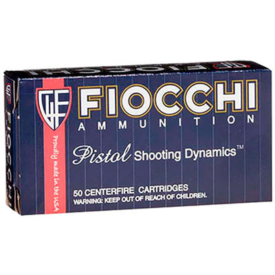 Fiocchi Ammo Shooting Dynamics 9mm 124 Grain FMJ 5