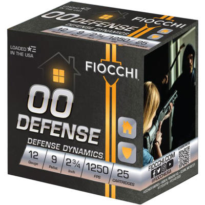Fiocchi Shotshells Defense 12 Gauge 2.75in 9 Pelle