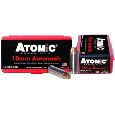 Atomic Ammo Defense 10mm 180 Grain Bonded MHP [00432]   Ammo