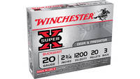 "Win Ammo super-x 20 Gauge 2.75"" 1200 #3bk 20-"