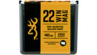 Browning Ammo 22Win Mag JHP 40 Grain 50 Rounds [B1