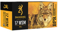Browning Ammo BPR 17 Win Super Mag 25 Grain Poly T