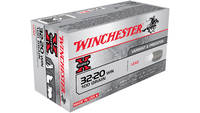 Win Ammo super-x .32-20 win.  100 Grain lead flat