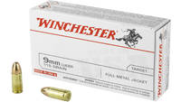Win Ammo usa 9mm luger 115 Grain fmj-rn 50 Rounds