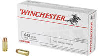 Winchester Ammo Best Value 40 S&W 165 Grain FM