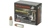 Winchester Ammo Elite PDX1 Defender 9mm Bonded JHP