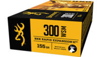 Browning Ammo BXR Rapid Expansion 300 WSM 155 Grai