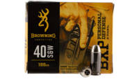 Browning Ammo BXP X-Point 40 S&W 180 Grain HP
