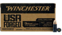 Winchester Ammo USA Forged 9mm 115 Grain FMJ 50 Ro