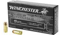 Win Ammo super supressed .45 acp 230 Grain fmje 50