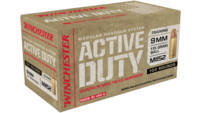 Winchester Ammo Active Duty 9mm 115 Grain FMJFN 10
