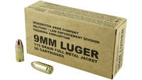 Remington Ammo Overrun 9mm 115 Grain FMJ 50 Rounds