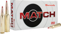 Hornady Ammo ELD Match 6mm Creedmoor 108 Grain 20