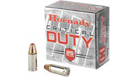 Hornady Ammo critical duty 9mm +p luger 135 Grain