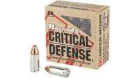 Hornady Ammo Critical Defense 9mm FTX 115 Grain 25