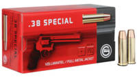 Geco Ammo 38 Special 158 Grain FMJ Flat Nose 50 Ro