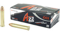 CCI A22  22 WMR  35 Grain  Gamepoint  200 Rounds [