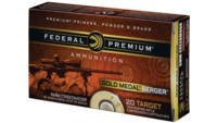 Federal Ammo Gold Medal 6mm Creedmoor 105 Grain BT