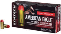 Federal Ammo American Eagle 40 S&W 165 Grain T