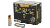 Speer Ammo Gold Dot Personal Protection 9mm 147 Gr