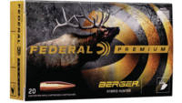 Federal Ammo Gold Medal 224 Valkyrie 83 Grain Berg