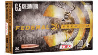 Federal Ammo 6.5 Creedmoor 130 Grain Barnes Triple