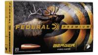 Federal Ammo 280 Ackley Improved 168 Grain Berger
