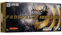 Federal Ammo 338 Lapua Mag 250 Grain Trophy Copper
