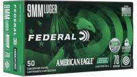 Federal Ammo American Eagle IRT 9mm 70 Grain Lead-