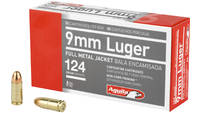 Aguila Ammo 9mm 124 Grain FMJ 50 Rounds [1E092110]