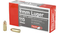 Aguila Ammo 9mm 115 Grain FMJ 50 Rounds [1E097704]