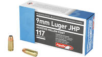 Aguila Ammo 9mm 117 Grain JHP 50 Rounds [1E092112]