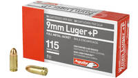 Aguila Ammo 9mm+P 115 Grain FMJ 50 Rounds [1E09211