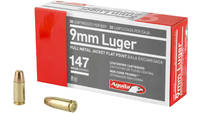 Aguila Ammo 9mm 147 Grain FMJ Flat Point 50 Rounds